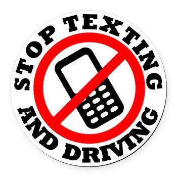 Texting Car Crash Clipart.