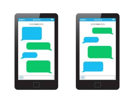Texting clipart mobile message.