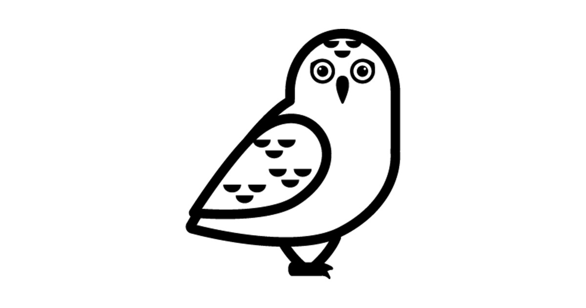 White Hoot Owl Icon Emoticon by anotherone.