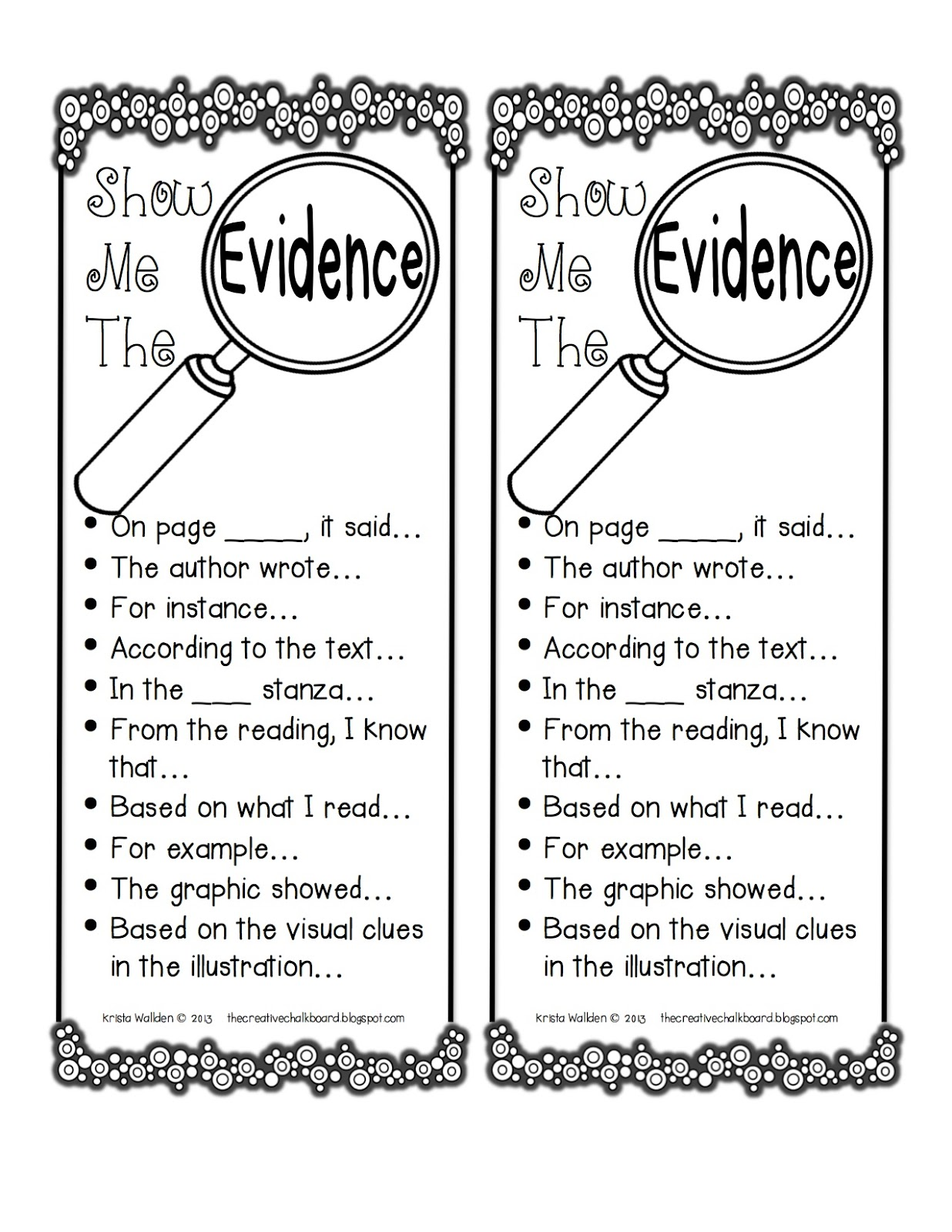 Textual Evidence Clipart.