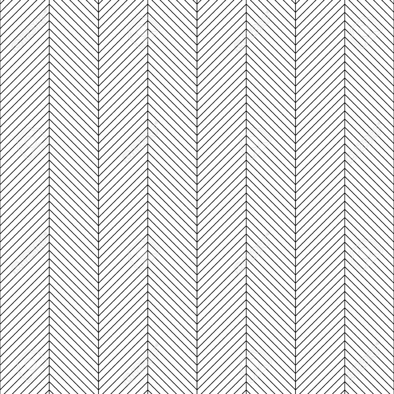 Zigzag Sin Fisuras. Resumen Negro Y Fondo Blanco. Vector Textura.