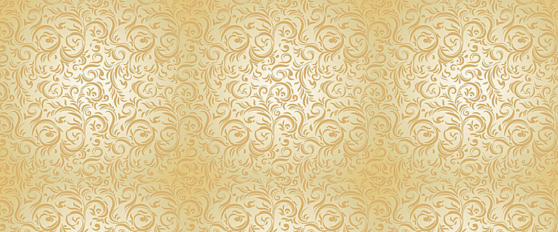 Golden European Pattern Background Material Texture Poster.