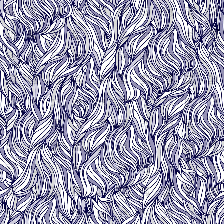 Interweaving Abstract Seamless Pattern Mess Hair Texture.