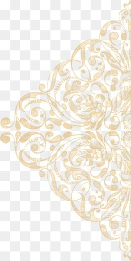Gold Lace Texture Ornament, Ornament Clipart, Lace, Grain.