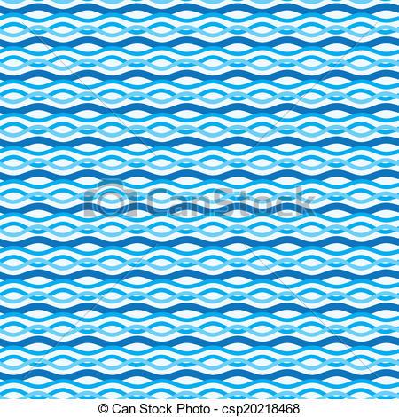 Clip Art Vector of Abstract wavy sea background. Ocean waves.