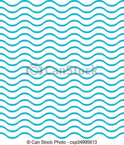 Vector Clip Art of texture of sea waves csp34995613.