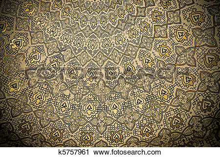 Stock Photography of Dome of the mosque, oriental ornaments from.