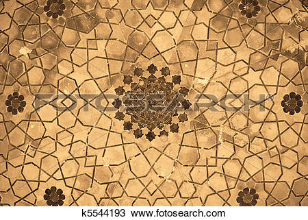 Stock Photo of Dome of the mosque, oriental ornaments from Bukhara.