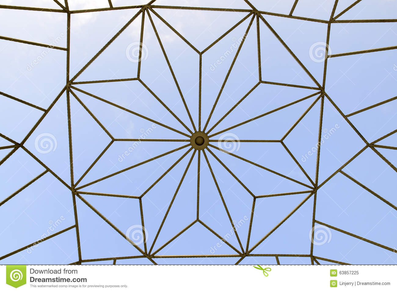 Texture Of Dome Roof. Stock Photo.