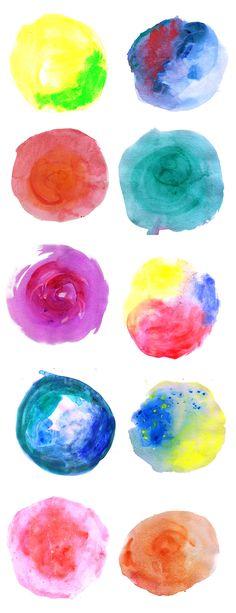 Watercolor Circles {Free Clip Art}.