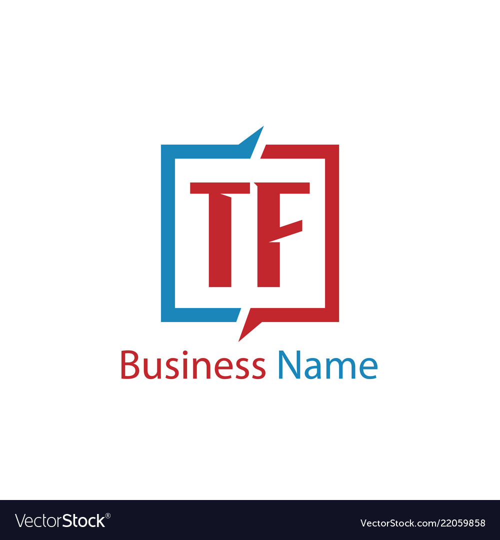 Initial letter tf logo template design.