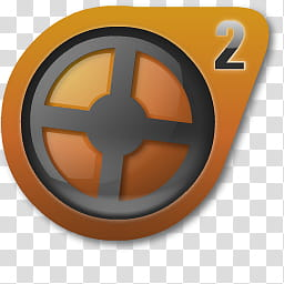 Source Icon Redux, tf, gray and orange reel logo.