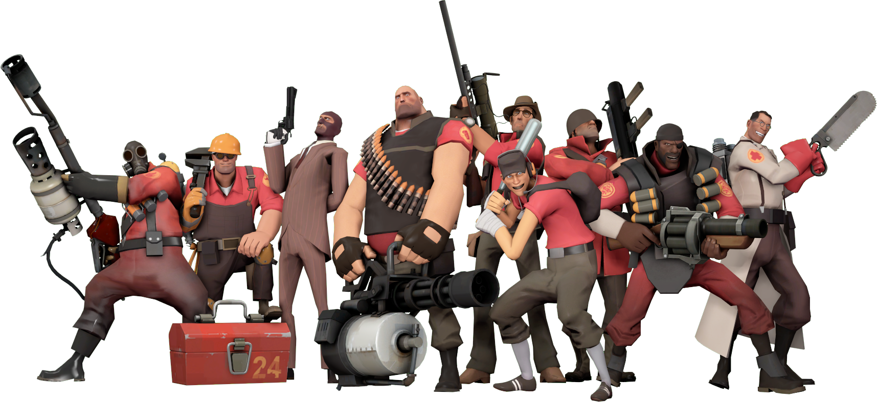 TF2 Team but it\'s PNG : tf2.