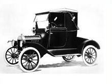 Ford model t touring car silhouette clipart.