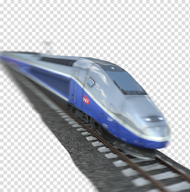 TGV Train Car Public transport, train transparent background.