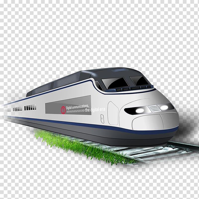 TGV Train Rapid transit Maglev, subway transparent.
