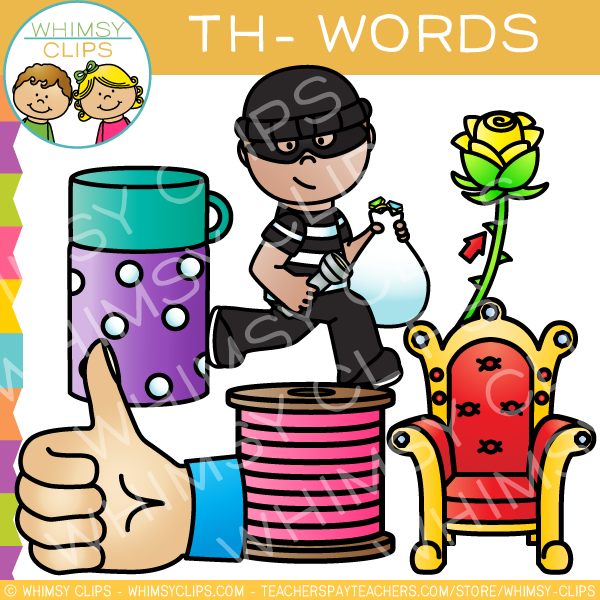 Th words clip art , Images & Illustrations.