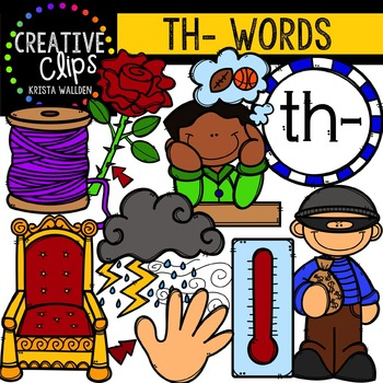 Th Words Clip Art & Worksheets.