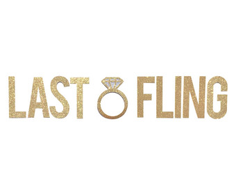 Last Fling Before The Ring Clipart.