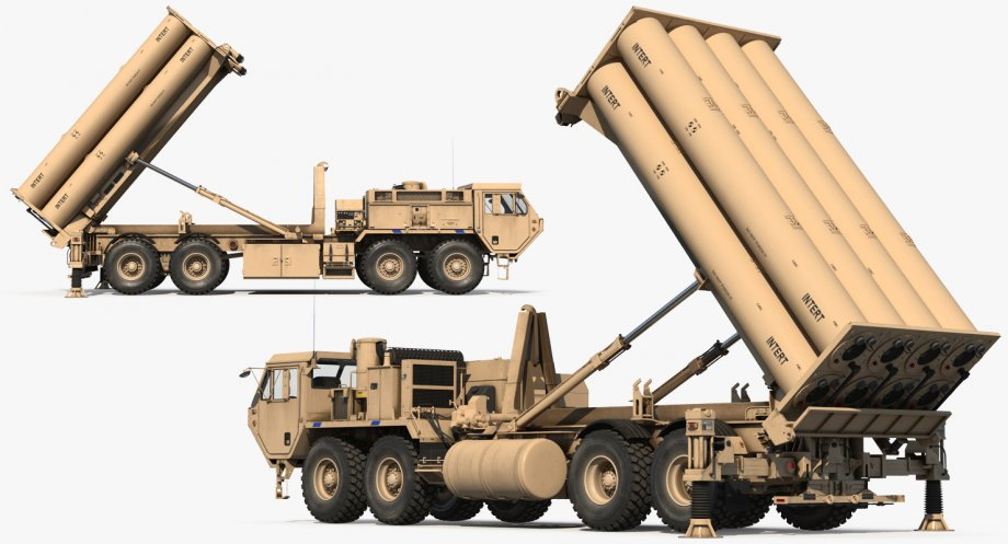 Terminal High Altitude Area Defense THAAD Battle Position 3d.