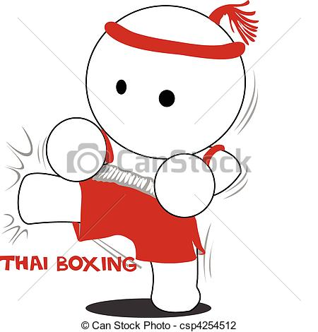 Thai boxing Clipart Vector and Illustration. 580 Thai boxing clip.