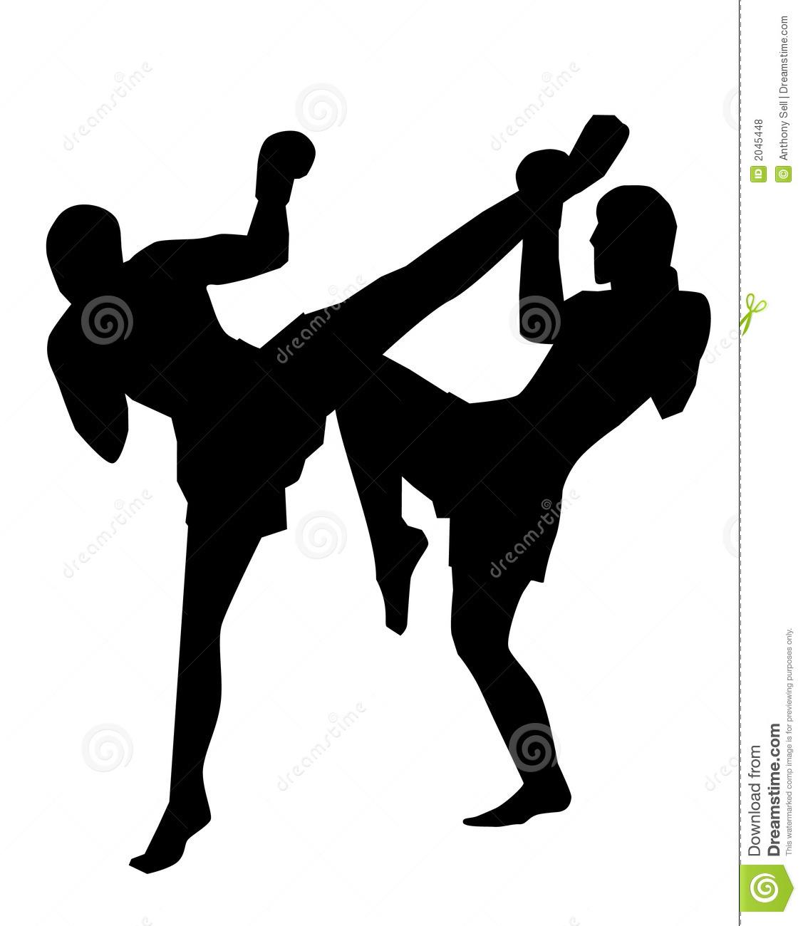 Muay Thai Kickboxing Clipart.