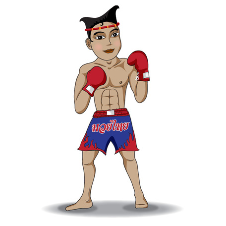 Vector Illustration of Thai Boxing, Vector Images.