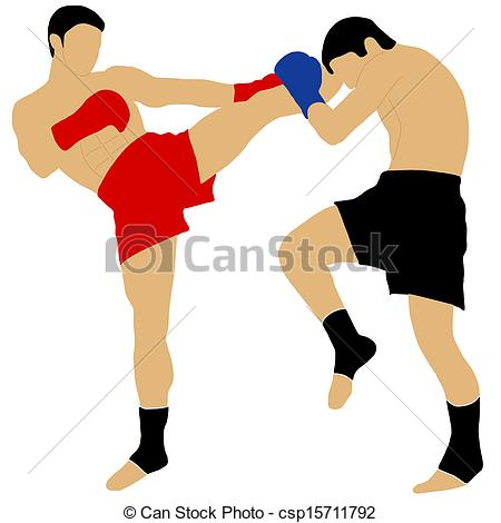 Thai boxing clipart.