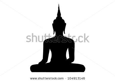 Silhouette Thai Buddha Stock Illustration 104913146.