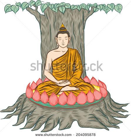 Buddha Bodhi Tree Stock Photos, Royalty.