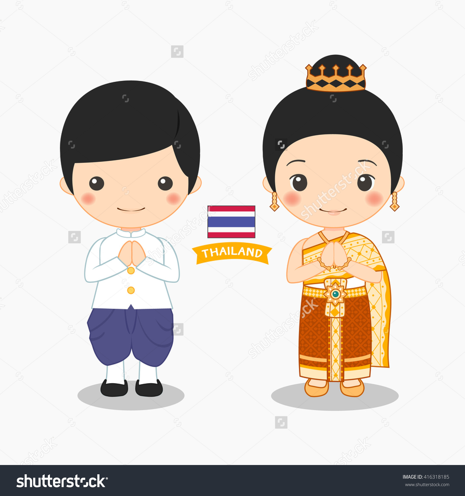 Clipart thai girl.