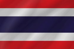Thailand flag clipart.