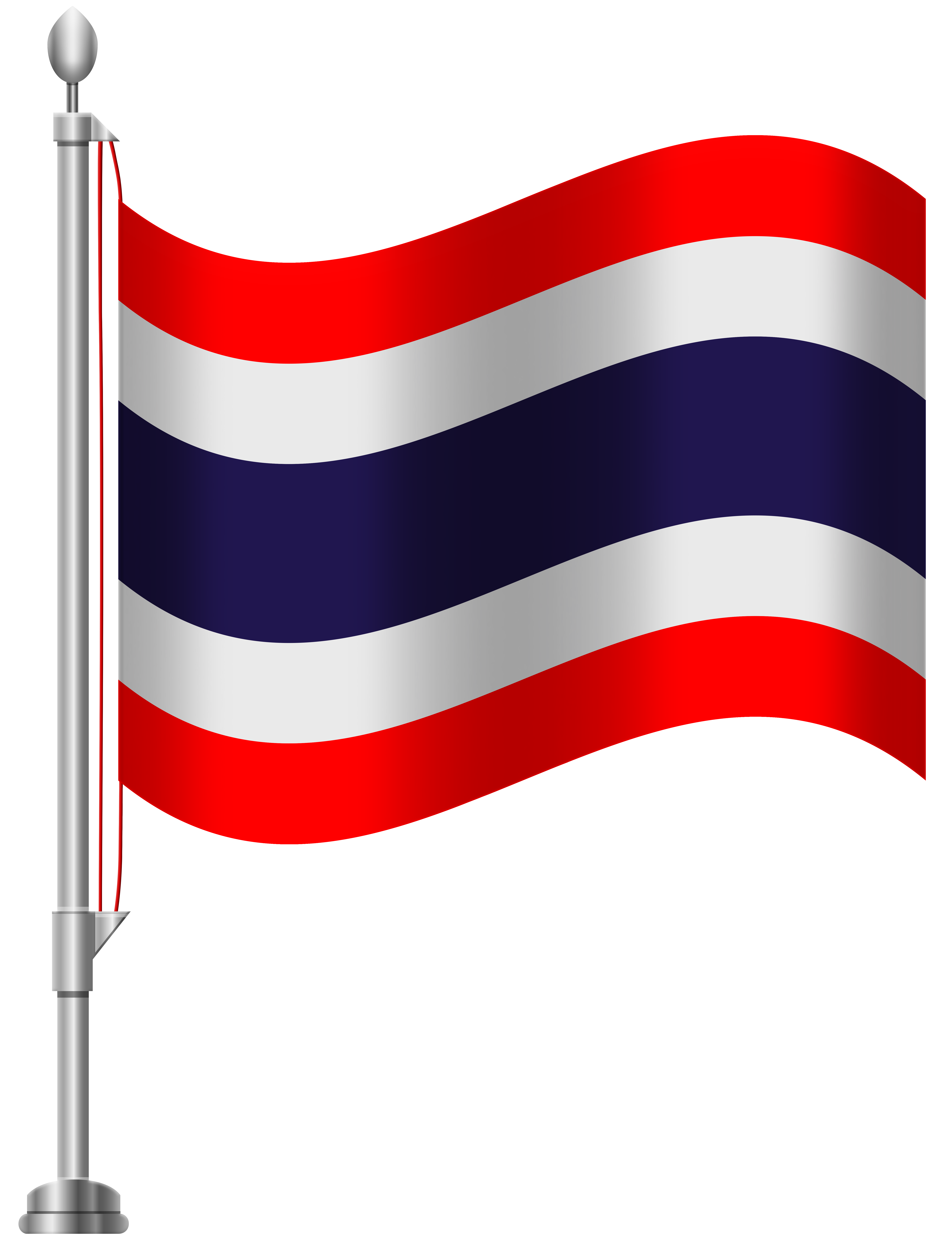 Thailand Flag PNG Clip Art.