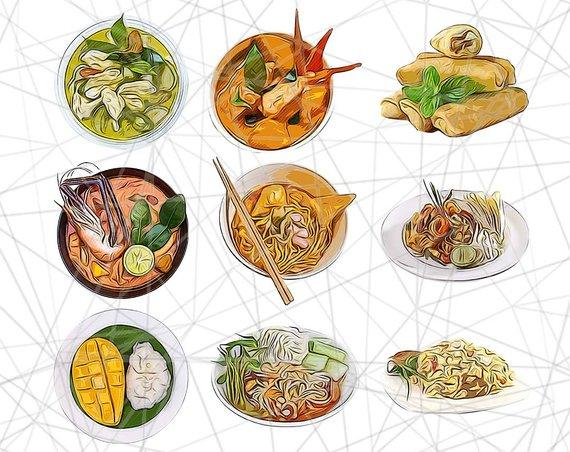 Thai Food Clipart Thai Food Clipart Thailand Clip Art Food.