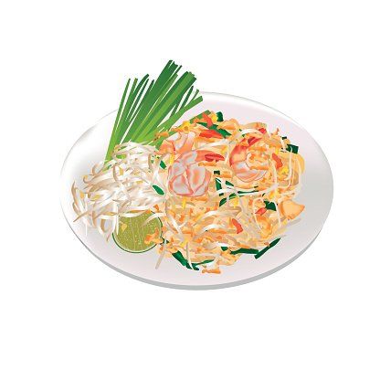 Thai Cuisine Food Pad Thai premium clipart.