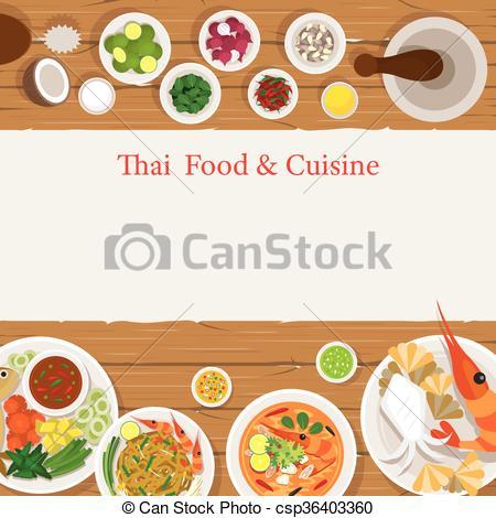 Vector Of Thai Food Menu Csp30043389