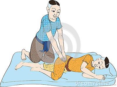 Thai Massage Royalty Free Stock Photo.