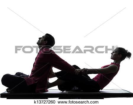 Stock Photography of thai massage silhouette k13727260.