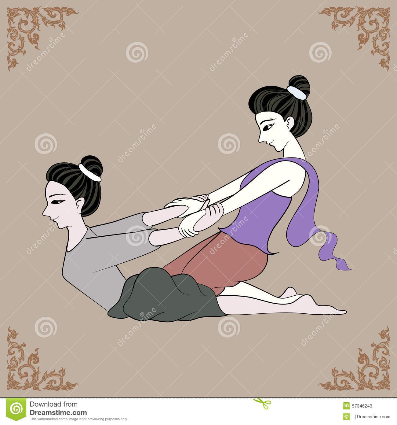 Thai Massage Stock Illustrations.