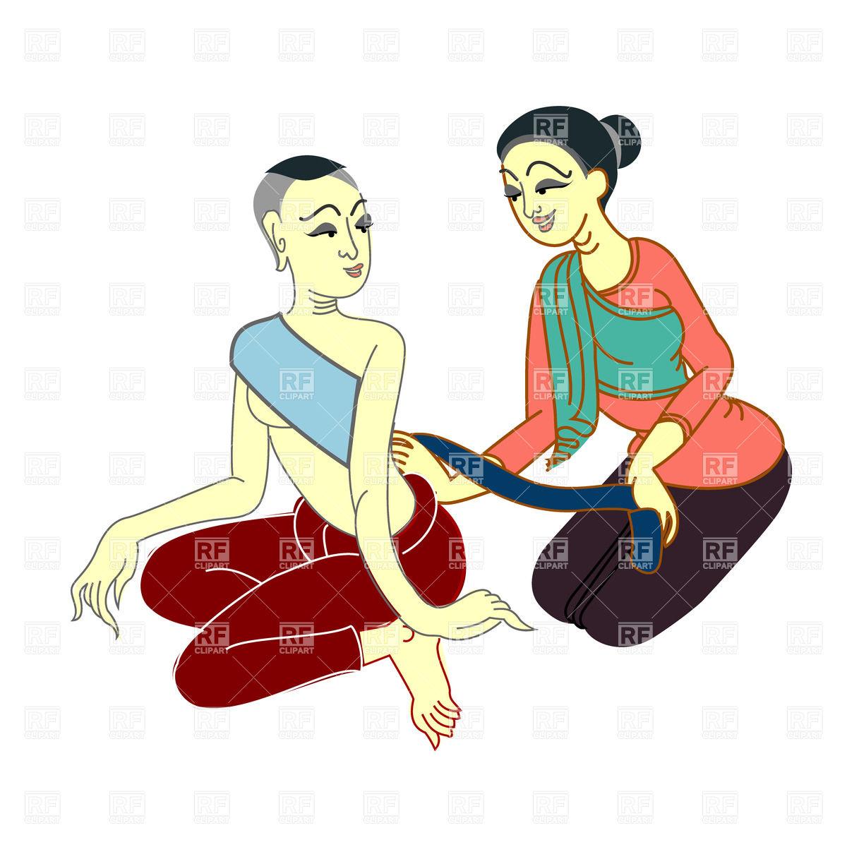 Thai massage relax Vector Image #36178.