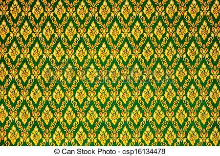 Thai art pattern background.