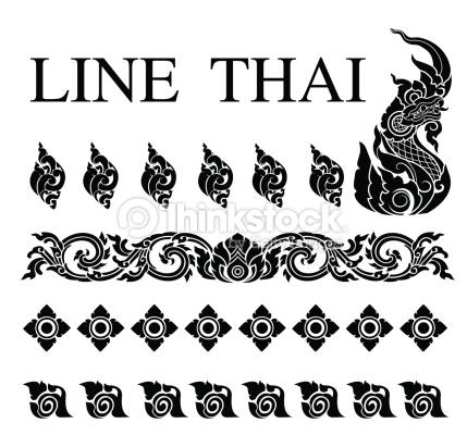 Thai Art Pattern Vector Vector Art.