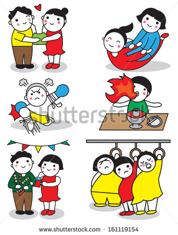Kids Enjoy Thai New Year Songkran Stock Vector 159140540.