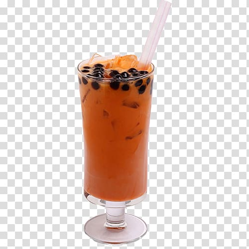 Thai tea Bubble tea Orange drink Milkshake, drink tea.