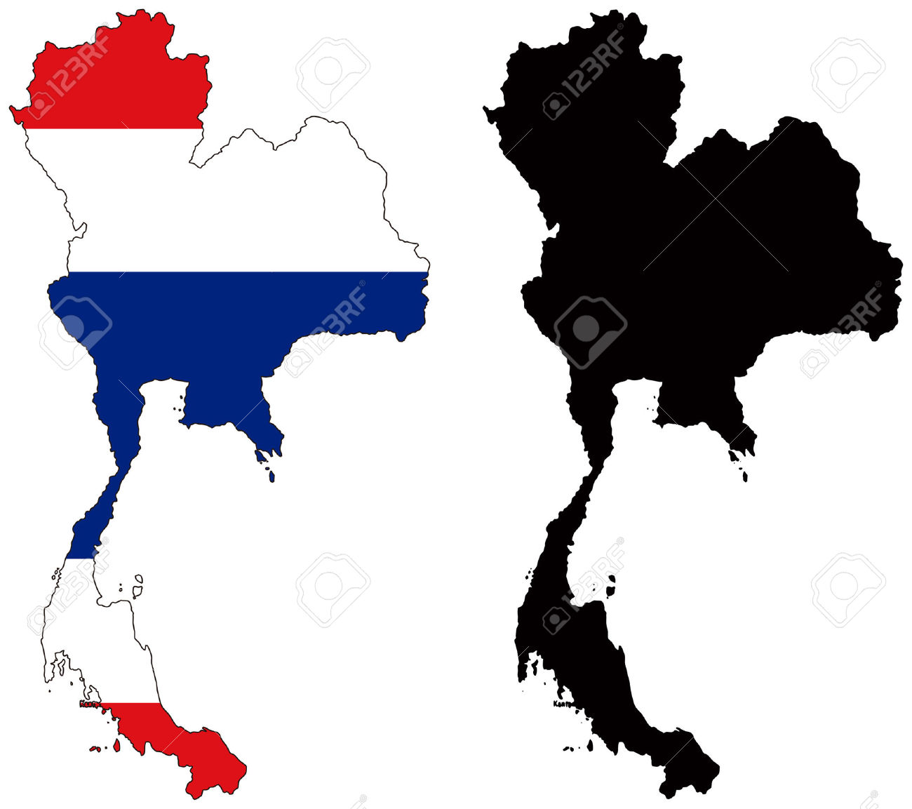 Thailand map clipart 4 » Clipart Station.