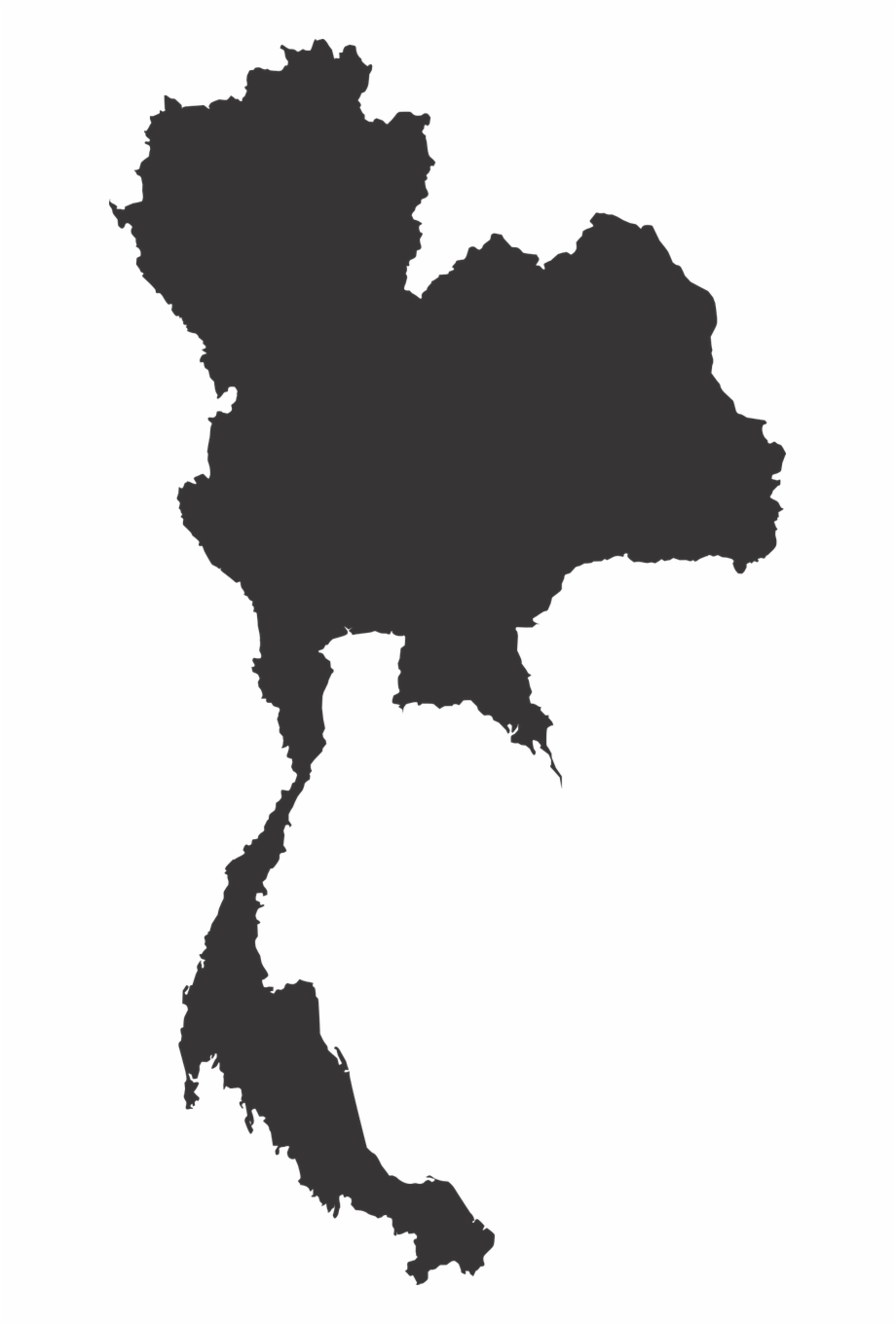 Thailand Map Map Vector Png Image.