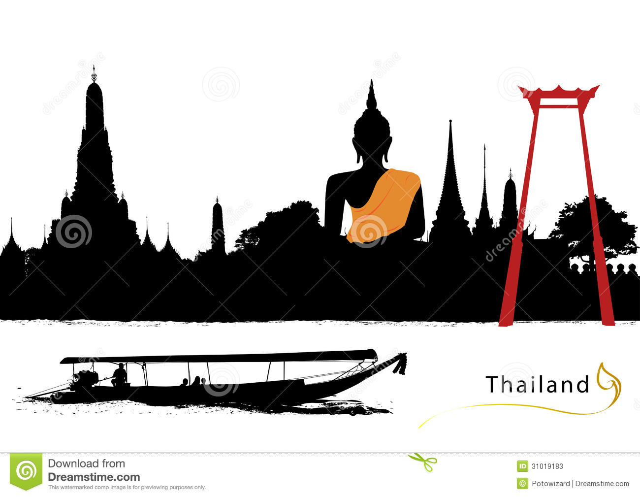 Thailand Stock Illustrations.