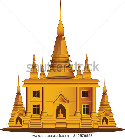 Thai Temple Vector Stock Photos, Royalty.
