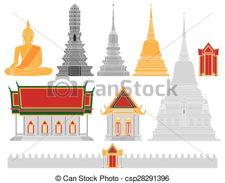 EPS Vectors of Thailand Temple vector csp28291396.