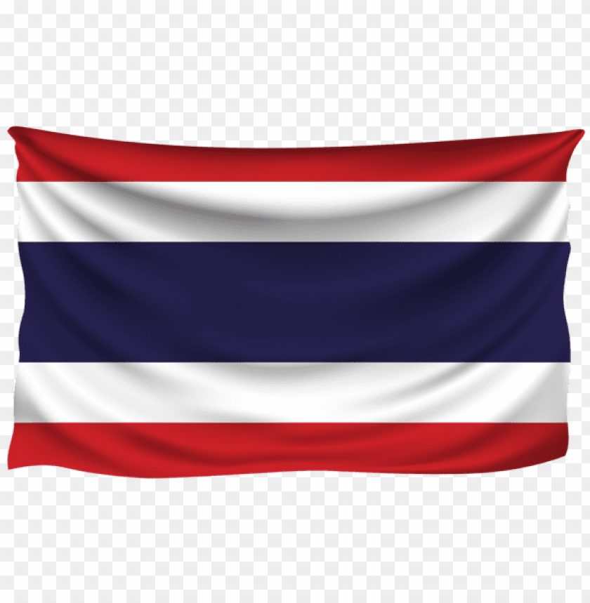 Download thailand wrinkled flag clipart png photo.